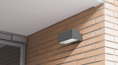 Exterior and Outdoor Lights - Exterior and Outdoor brick, brickwork, ceiling, daylighting, facade, roof, siding, wall, white