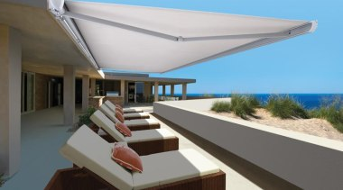 luxaflex garda awning 2 - luxaflex garda awning architecture, condominium, daylighting, estate, house, property, real estate, roof, shade, gray
