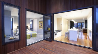 Large covered area allows fantastic summertime entertaining spaces. door, floor, interior design, real estate, window