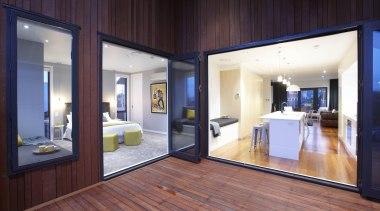 Large covered area allows fantastic summertime entertaining spaces. door, floor, interior design, real estate, window