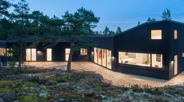 Villa Blåbär, Stockholm, SwedenpS Arkitektur - World Architecture architecture, cottage, estate, facade, home, house, landscape, property, real estate, black, teal
