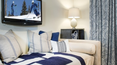 Mountain Modern - Guest Bedroom - bed frame bed frame, bed sheet, bedding, bedroom, ceiling, duvet cover, home, interior design, room, suite, textile, wall, window, gray
