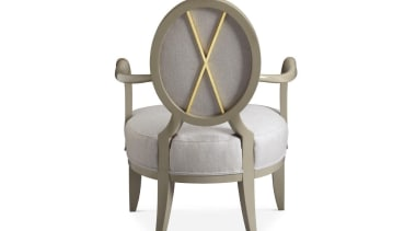 """A good room is an overall harmonious composition armrest, chair, furniture, product design, table, white"