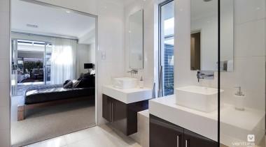 Ensuite design. - The Nirvana Display Home - bathroom, interior design, real estate, room, gray