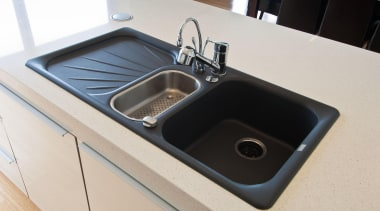 Khandallah Kitchen - Khandallah Kitchen - bathroom sink bathroom sink, countertop, hardware, plumbing fixture, product design, sink, white, black