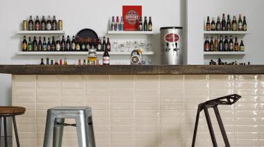 Liverpool Portland Bar Feature - Liverpool Portland Bar furniture, interior design, product design, shelf, shelving, table, gray