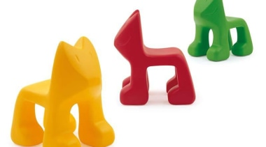 Julian is a Children's chair designed by Javier orange, plastic, product, product design, yellow, white