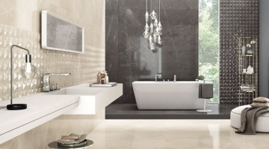 Trilogy Moon Beige - Trilogy Moon Beige - bathroom, ceramic, floor, flooring, interior design, tap, tile, wall, white, gray