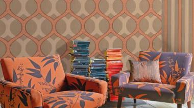 Fotolosanga - Modern Style Range - chair   chair, couch, floor, flooring, furniture, home, interior design, living room, loveseat, room, table, wall, wallpaper, wood, brown, orange