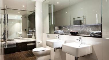 Archer + Wright – Finalist - 2015 Trends bathroom, floor, home, interior design, real estate, room, sink, gray