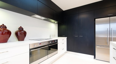 For more information, please visit www.gjgardner.co.nz countertop, interior design, kitchen, room, white, black