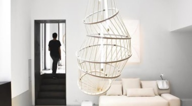 Constance Guisset for Molteni & C: MO Lamp ceiling, floor, home, interior design, light fixture, product design, white