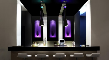 SHI from Grok, Spain - Pendant Light - interior design, light fixture, lighting, product design, purple, black, gray
