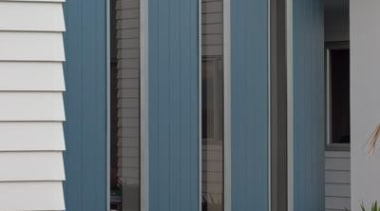 Axon Panel - Axon Panel - door | door, facade, home, house, property, real estate, siding, structure, window, teal