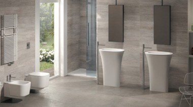 Karim - bathroom | floor | flooring | bathroom, floor, flooring, plumbing fixture, tile, toilet, wall, gray