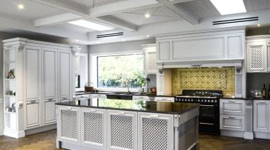 Berloni, New ZealandSee the full story cabinetry, countertop, cuisine classique, floor, flooring, interior design, kitchen, gray