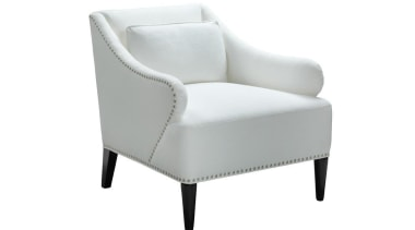 """My natural inclination for grandeur prompts me to angle, armrest, chair, club chair, comfort, furniture, product, product design, white"
