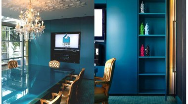 Entrant - Scott Weston Architecture Design. Month - blue, furniture, home, interior design, living room, room, table, teal
