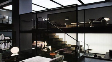 Black Interior Design byRobert Granoff - Black Design architecture, ceiling, daylighting, house, interior design, loft, black