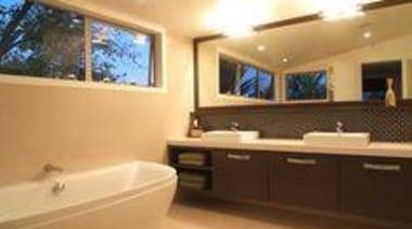 Bathroom sink featuring Caesarstone Snow - Bathroom sink bathroom, home, interior design, property, real estate, room, orange, brown