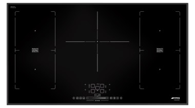 Smeg has a new induction cooktop collection with black, black and white, design, product, product design, black