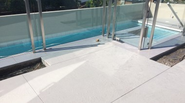 Cemcote Patio - Cemcote Patio - composite material composite material, fence, floor, glass, handrail, outdoor structure, property, roof, swimming pool, water, white, gray