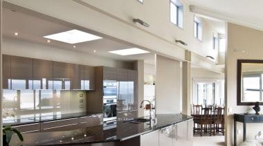 Mt Victoria Kitchen - Mt Victoria Kitchen - architecture, ceiling, daylighting, interior design, gray