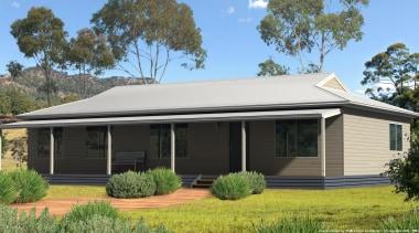 15.6 m x 8.0 mBedrooms: 3Bathrooms: 1Home: 124.8 cottage, elevation, estate, facade, home, house, landscape, property, real estate, roof, siding