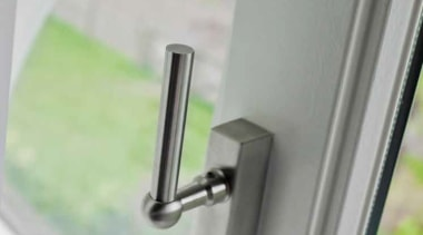 FVL100-DKLOCK - Locking Tilt and Turn Window Handle. angle, glass, lock, window, gray