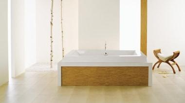Inspired from the Japanese art of folding paper bathroom, bathroom sink, bathtub, ceramic, floor, flooring, furniture, hardwood, interior design, laminate flooring, plumbing fixture, product design, sink, table, tap, tile, wood, wood flooring, white