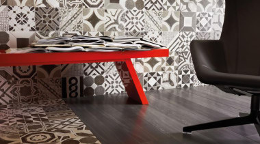 Acacia Negra porcelain floor tiles 1200x200mm - Eco carpet, chair, design, floor, flooring, hardwood, interior design, living room, pattern, tile, wall, wood flooring, gray, black