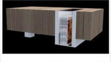 by Kate Beaumont - Block a Lot - furniture, product, product design, table, wood, black, white