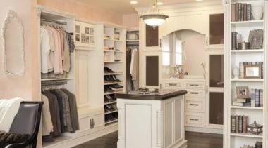 WALK IN CLOSET - Closet - walk in cabinetry, closet, cuisine classique, floor, flooring, furniture, interior design, room, gray