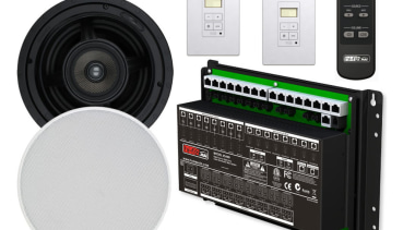 Smart Sound 8 Rooms includes 8 Zone Amplifier, electronics, electronics accessory, product, technology, white, black