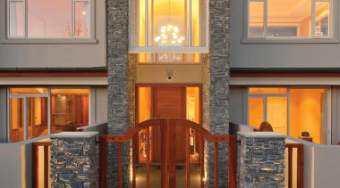 Presenting Austral Bricks® Designa Schist - an innovative building, estate, facade, home, house, lighting, property, real estate, window