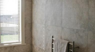 Bernini porcelain bathroom wall tile. - Bernini - bathroom, floor, flooring, home, interior design, plumbing fixture, property, room, tile, wall, window, gray