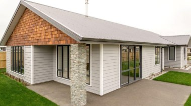 Christchurch showhome - Christchurch showhome - cottage | cottage, elevation, estate, facade, home, house, property, real estate, roof, shed, siding, window, white