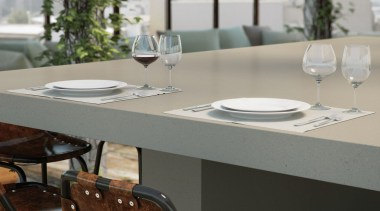A natural soft grey with a distinctive texture chair, dining room, furniture, interior design, product design, table, gray