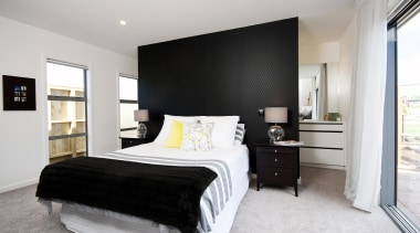 A popular master bedroom layout in this award bed frame, bedroom, ceiling, home, interior design, property, real estate, room, wall, gray