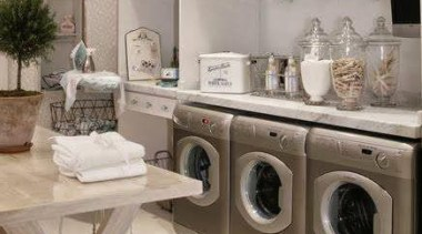 Utilitarian spaces such as laundry rooms and mudrooms clothes dryer, cuisine classique, furniture, home appliance, interior design, kitchen, laundry, laundry room, major appliance, room, washing machine, gray