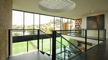 Remuera House - Remuera House - architecture | architecture, condominium, daylighting, estate, glass, handrail, house, interior design, property, real estate, stairs, window, brown
