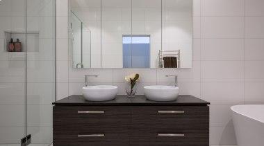Master Ensuite - Master Ensuite - bathroom | bathroom, bathroom accessory, bathroom cabinet, countertop, floor, interior design, product design, room, sink, tile, gray