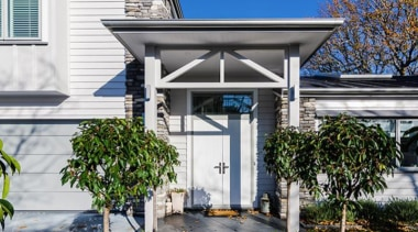 Simpler. Faster. Proven Weathertight. - A-lign Concealed Fix facade, home, house, outdoor structure, porch, property, real estate, residential area, roof, gray