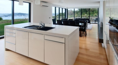Khandallah Kitchen - Khandallah Kitchen - countertop   countertop, floor, flooring, interior design, kitchen, real estate, wood flooring, gray