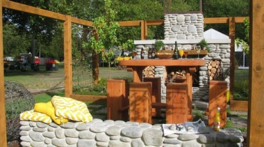 At Ellerslie International Flower Show - At Ellerslie backyard, landscaping, outdoor structure, yard, brown