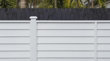 Simpler. Faster. Proven Weathertight. - A-lign Fencing - facade, fence, home fencing, line, outdoor structure, picket fence, siding, wall, white