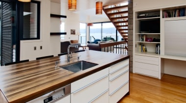 Karaka Bay Kitchen - Karaka Bay Kitchen - cabinetry, countertop, cuisine classique, floor, flooring, hardwood, interior design, kitchen, real estate, room, wood flooring, gray