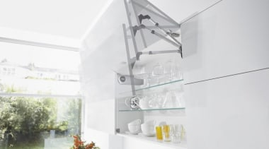Bi-fold Lift System - AVENTOS HF - architecture architecture, glass, interior design, tap, white
