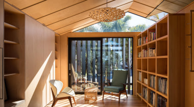 Takapuna, Auckland (designed in association with Rachael Rush) architecture, ceiling, daylighting, home, house, interior design, real estate, room, window, wood, brown, orange