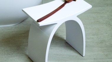 Bathroom stool made of solid surface001G gloss white001M coffee table, furniture, product design, table, gray, white